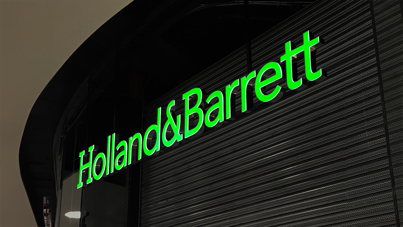 Skylt Holland & Barrett