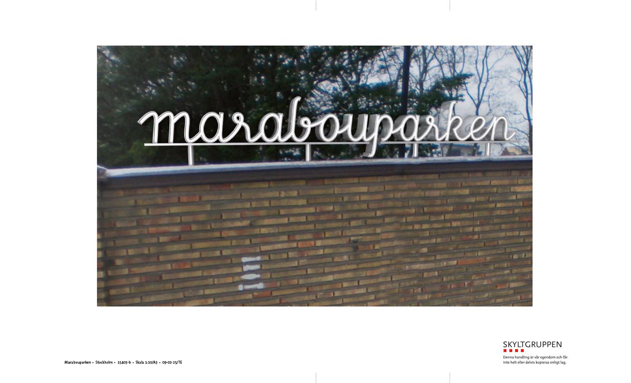 Skiss Marabouparken